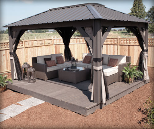Visscher pavillons de jardin gaz bos enki for Club piscine gazebo